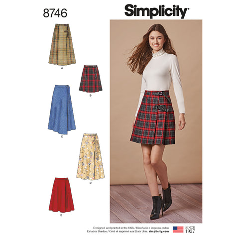 Simplicity Sewing Pattern 8746 - Women's Wrap Skirts