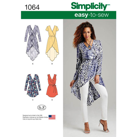 Simplicity Sewing Pattern 1064 - Women's Tunics