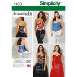 Simplicity Sewing Pattern 1183 - Women's and Plus Size Corsets