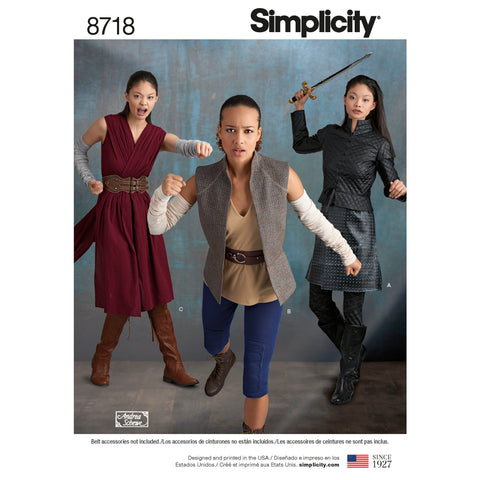 Simplicity Sewing Pattern 8718 - Women's Costumes