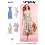 Simplicity Sewing Pattern 8637 - Women's Wrap Dress