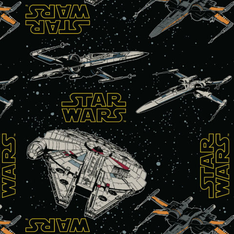 The Craft Cotton Co Disney Star Wars - Rebel Ships - 100% Cotton Fabric