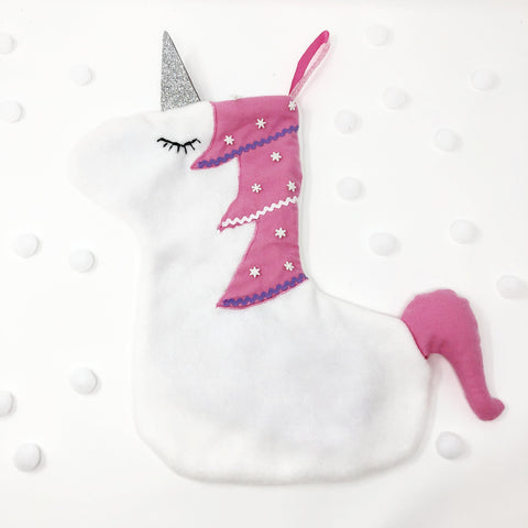 Unicorn Christmas Stocking Sewing Pattern