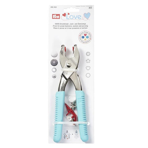 Prym Love Teal Vario Pliers for Press Fasteners Tool Set