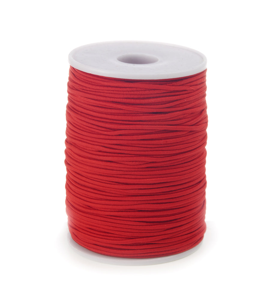 2mm Coloured Elastic Cord - Red