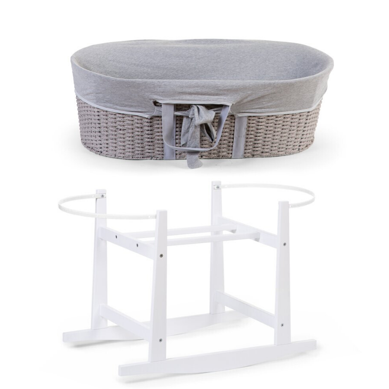 Moses Basket with Jersey Cover