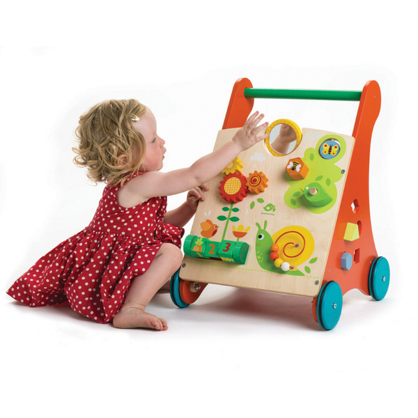 toddler playing with Activity Walker