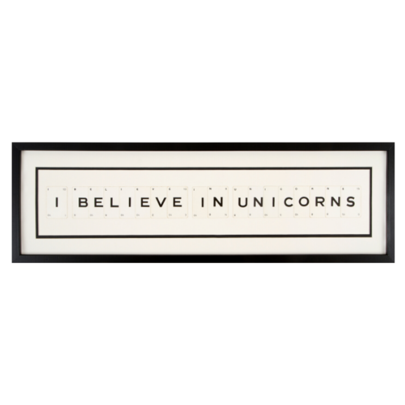 I Believe In Unicorns Playing Card Frame