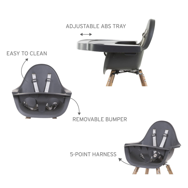 Evolu High Chair Eating Tray - Anthracite