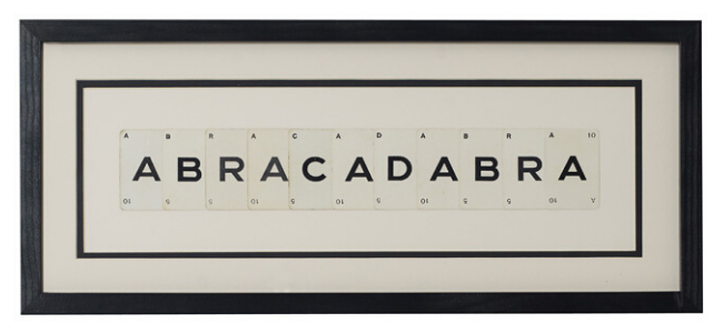 Abracadabra Playing Card Frame