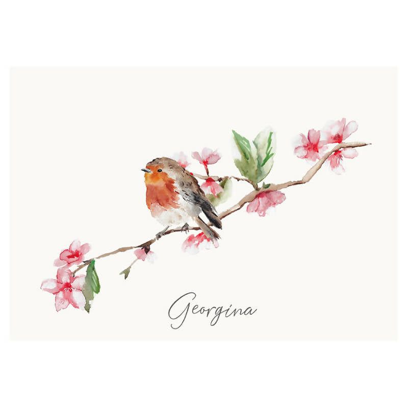 Personalised Robin print