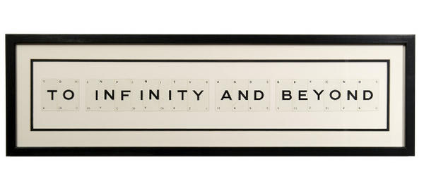 To Infinity And Beyond Playing Card Frame