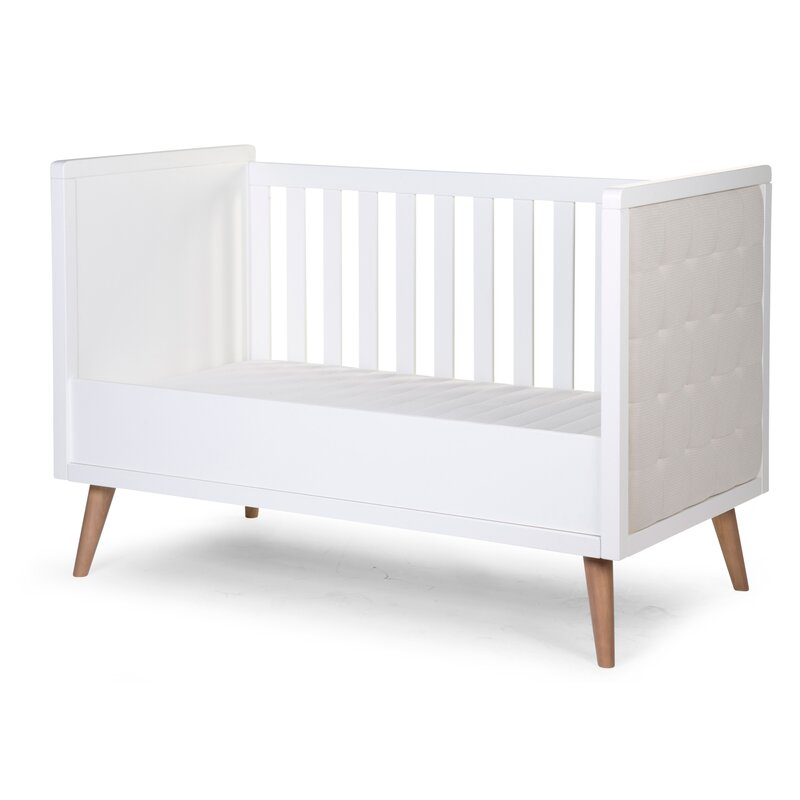 Retro White Cot Bed