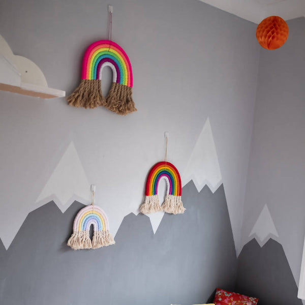 The Pastel Dorothy Rainbow on wall