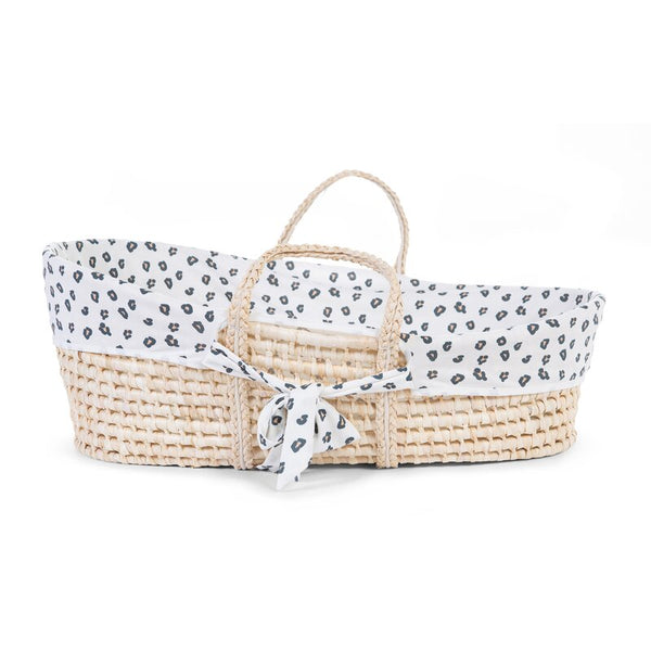 Natural Moses Basket with Jersey Cover