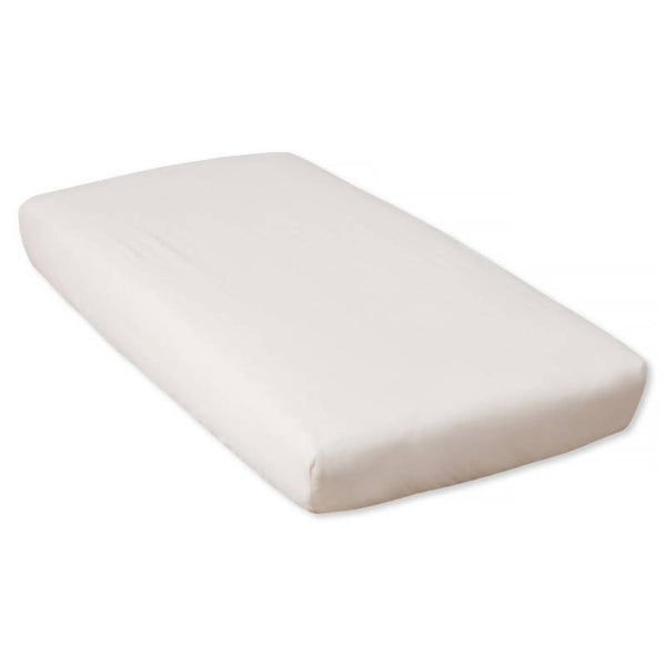 Organic Ivory Percale Fitted Sheet