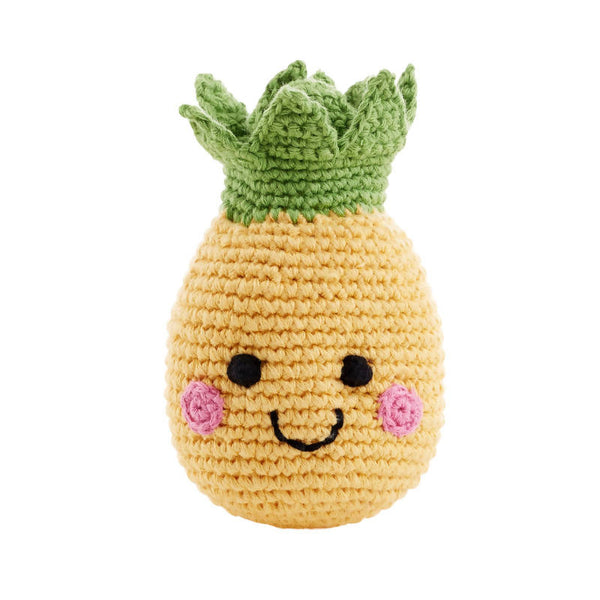 Crochet Pineapple Baby Rattle
