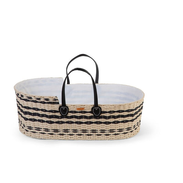 Patterned Natural Moses Basket