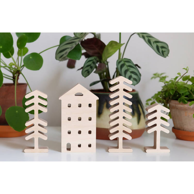 Woodland Trees and Townhouse Set