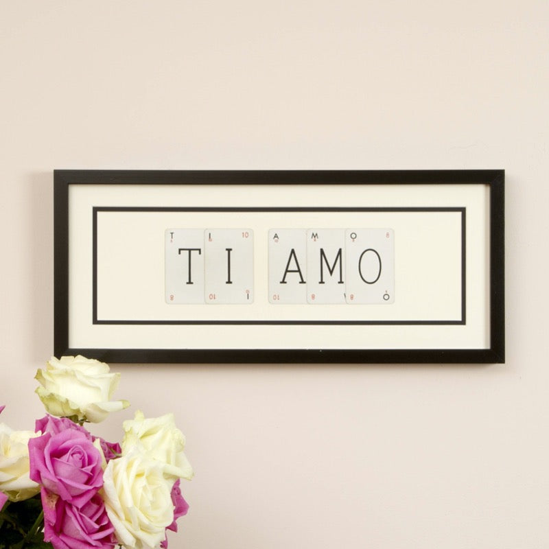 Ti Amo Playing Card Frame