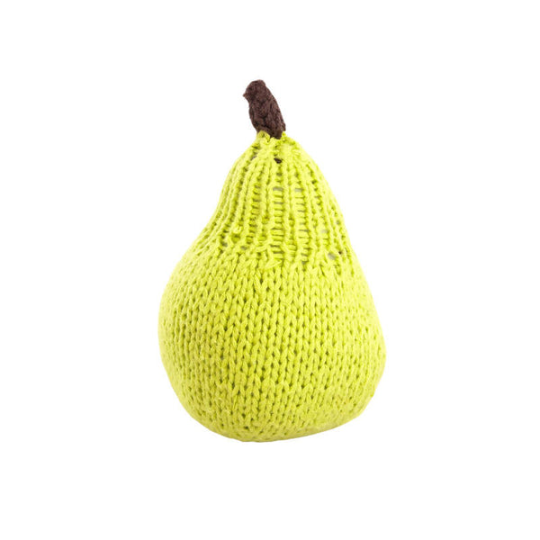 Knitted Pear Rattle