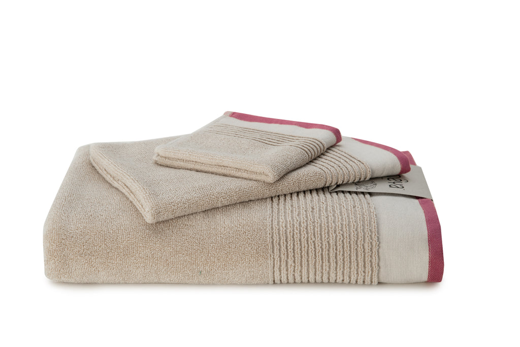 Almond/Pink / Face Towel