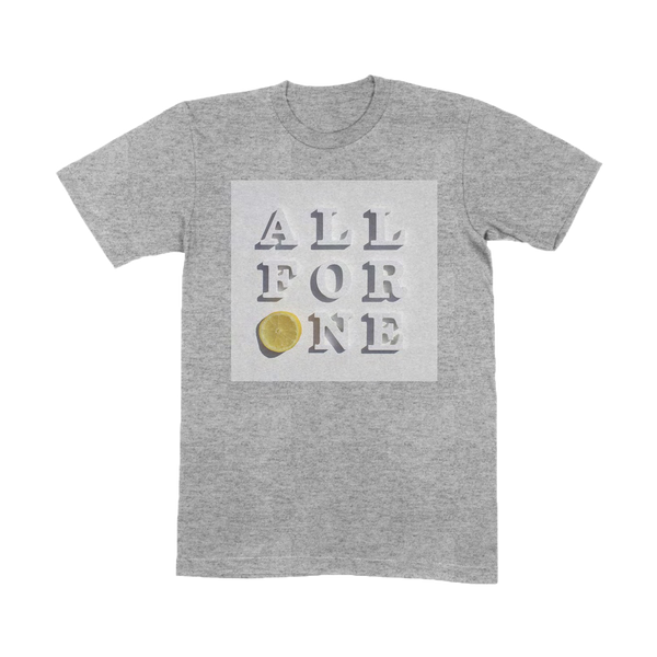 ALL FOR ONE GREY T-SHIRT