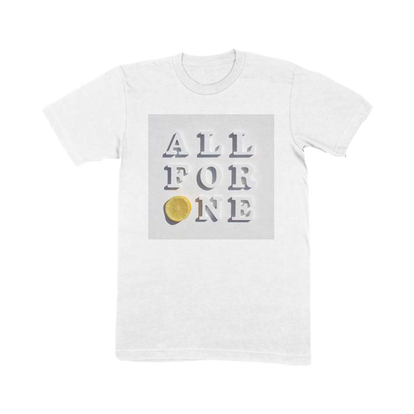 ALL FOR ONE WHITE T-SHIRT