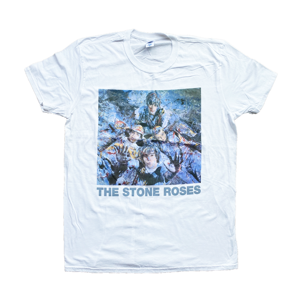 STONE ROSES PAINT WHITE T-SHIRT