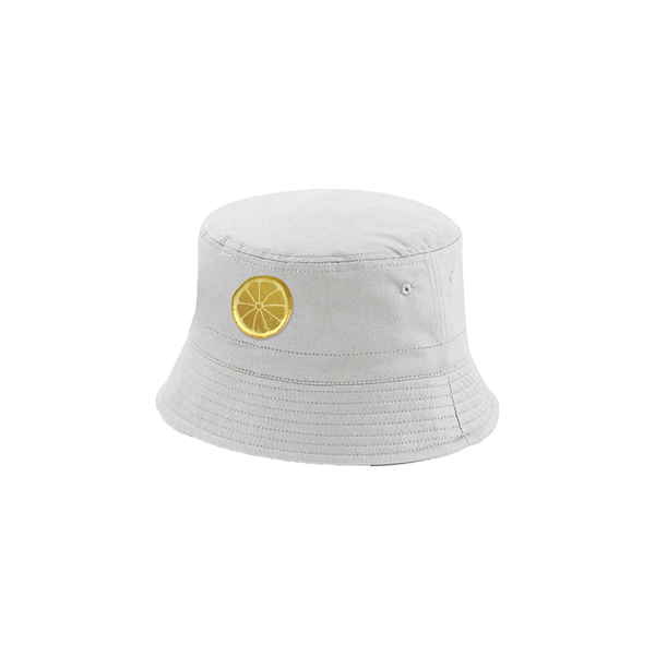 White / French Navy Bucket Hat