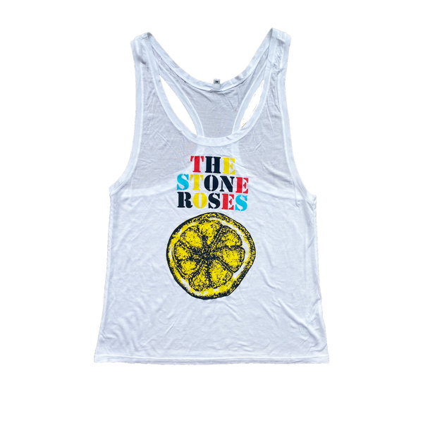 LEMON LOGO WHITE WOMENS VEST TOP