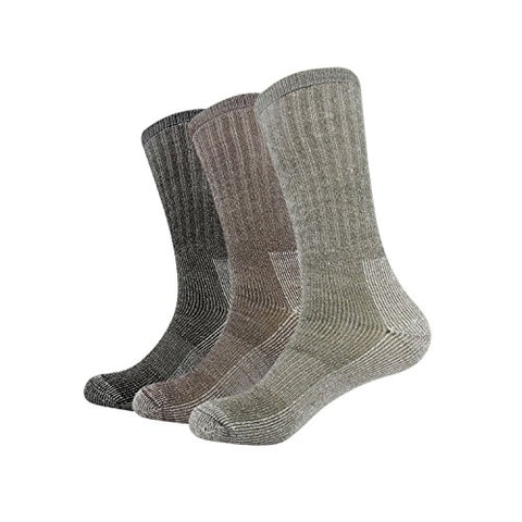 Vihir Men's Thermal 80% Merino Wool Hiking Calf Tube Socks, 3 Pack - Vihir