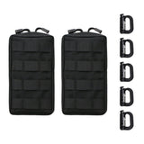 Vihir Molle Pouches 2Pack - Military Tactical Multi-Purpose Water-Resistant Utility EDC Pouch, with 5 Tactical D-Ring Locks - Vihir