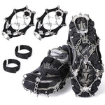Vihir Ice Cleats Crampons Traction Snow Grips for Boots Shoes Women Men Kids Anti Slip 19 Stainless Steel Spikes Safe Protect for Hiking Fishing Walking Climbing Jogging Mountaineering - Vihir