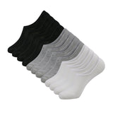 12 Pairs Ankle No Show Socks-Men Women Athletic Invisible No-Slip Low Cut Socks, Black/White/Grey, Men - Vihir
