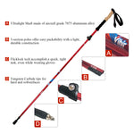 Vihir Collapsible 7075 Aluminum Alloy Hiking/Walking/Trekking Poles for Men Women - Vihir