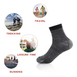 Men's Merino Wool Hiking Socks-Thermal Warm Crew Winter Ankle Socks for Trekking,Multi Performance,Outdoor Skiing,4 Pack - Vihir