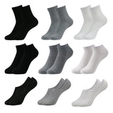 Casual Crew Socks Ankle No Show Socks No-Slip Low Cut Socks Set for Men and Women,9Pairs - Vihir