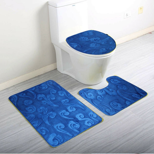 Blue bath rugs