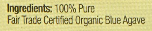 Light syrup organic sweetener label 100% pure