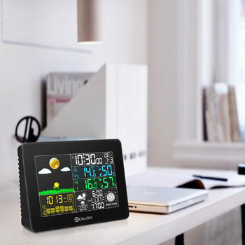 Home weather station on desk