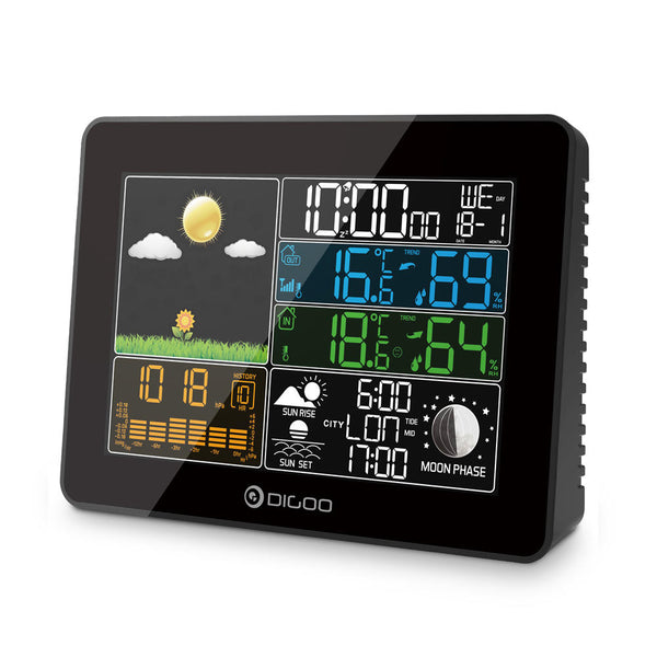 Weather station wind direction indicator