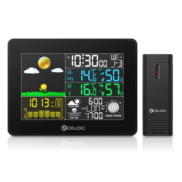 Home weather station and remote outdoor sensor