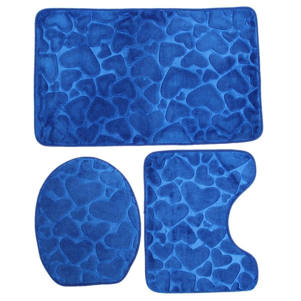 Blue bathroom accessories set