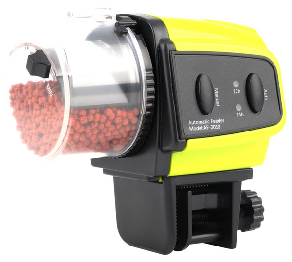 Fish Feeder Slow Release Timer with fish food inside