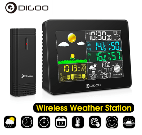 Wireless weather station instrument