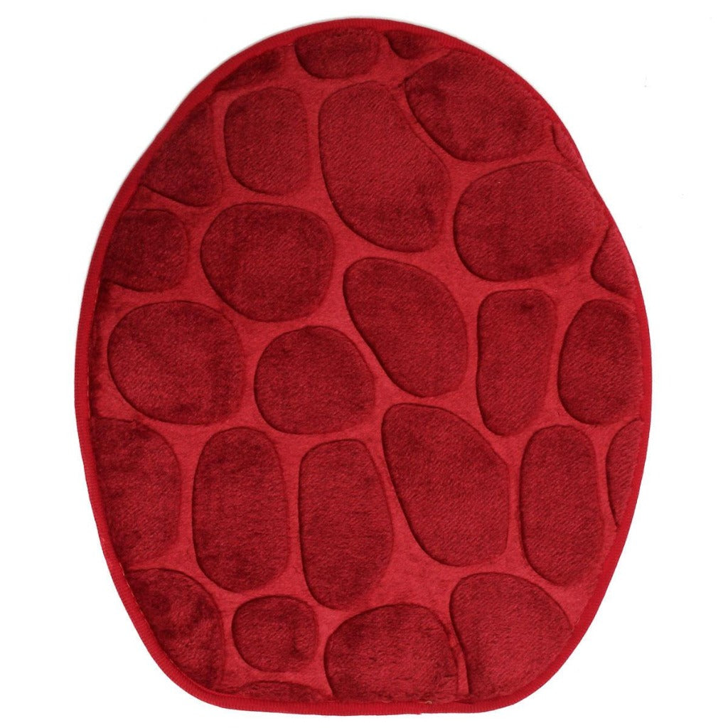 Red toilet seat cover