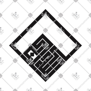 ALLAHU AKBAR - الله أكبر - KHATTAATT - All Vector Products, Allah, Allahu Akbar, Full Set, Script: Kufi, Script: Square Kufic, Shape: Square & Rectangle, Tasbih