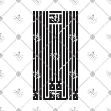 LA ILLAH ILLA ALLAH - لا إله إلا الله - KHATTAATT - All Vector Products, Allah, Script: Kufi, Script: Square Kufic, Shahadah, Shape: Creative, Shape: Square & Rectangle