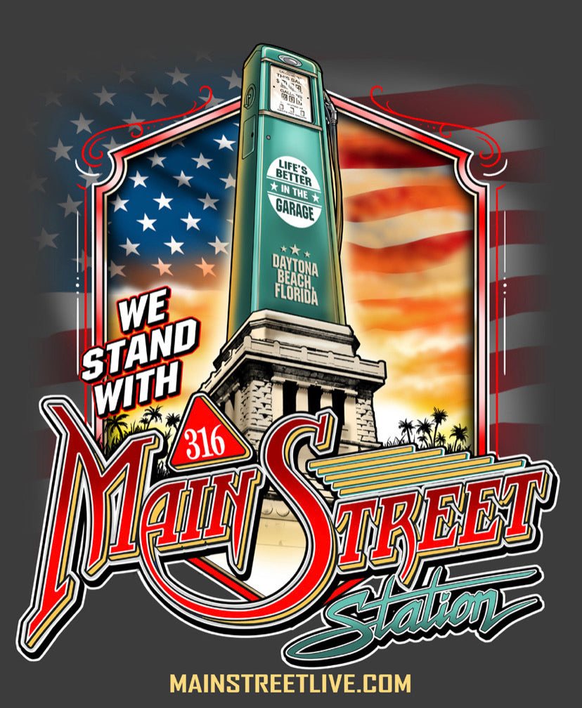 We Stand With Main Street Station Men's t-shirts